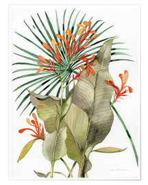 Premiumposter Botanical Flame Lilies