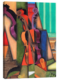 Canvastavla  Violin and guitar - Juan Gris