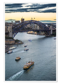 Premiumposter View over Sydney Harbor