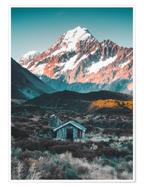 Poster  Hut på Mount Cook i Nya Zeeland - Nicky Price