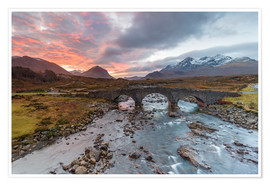 Premiumposter  Sgurr nan Gillean in the Cuillin mountains - Andrew Sproule