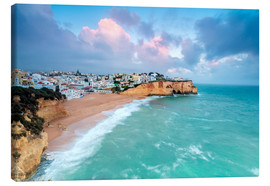 Canvastavla  View of Carvoeiro village surrounded by sandy beach - Roberto Sysa Moiola