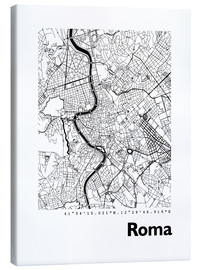 Canvastavla  Map of Rome - 44spaces