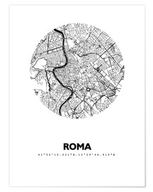 Premiumposter  Map of Rome - 44spaces
