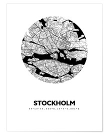 Premiumposter  City map of Stockholm - 44spaces