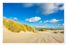 Premiumposter Landscape with dunes on the island Amrum, Germany