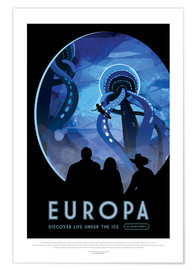Premiumposter  Retro Space Travel - Europa