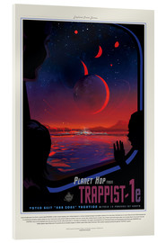 Akrylglastavla  Retro Space Travel - Trappist1e