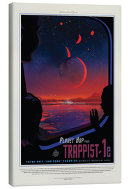 Canvastavla  Retro Space Travel - Trappist1e