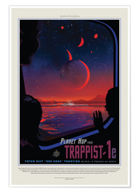 Poster  Retro Space Travel - Trappist1e