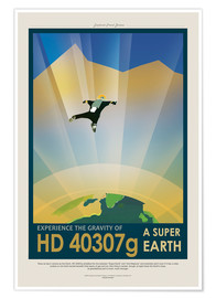 Premiumposter Retro Space Travel - HD40307G Gravity
