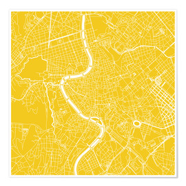 Premiumposter Map of Rome