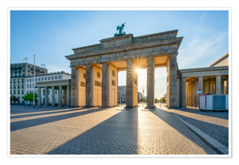 Premiumposter  The Brandenburg Gate in Berlin - Jan Christopher Becke