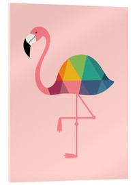 Akrylglastavla  Rainbow Flamingo - Andy Westface