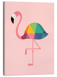 Canvastavla  Rainbow Flamingo - Andy Westface