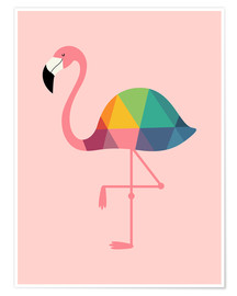 Premiumposter  Rainbow Flamingo - Andy Westface