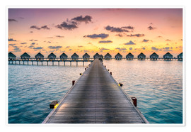Premiumposter  Romantic sunset in the Maldives - Jan Christopher Becke