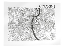 Akrylglastavla  City map of Cologne - 44spaces