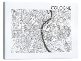 Canvastavla  City map of Cologne - 44spaces
