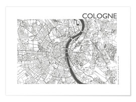 Premiumposter  City map of Cologne - 44spaces