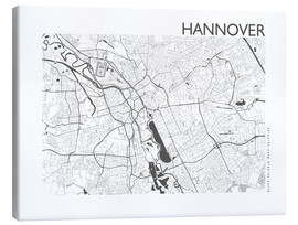 Canvastavla  City map of Hannover - 44spaces