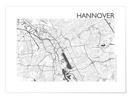 Premiumposter  City map of Hannover - 44spaces