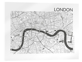 Akrylglastavla  City map of London - 44spaces