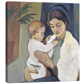 Canvastavla  Mother and child - August Macke