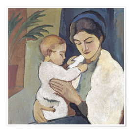 Premiumposter  Mother and child - August Macke