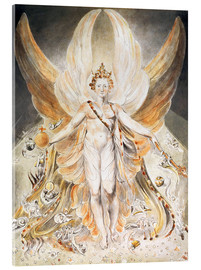 Akrylglastavla  Satan in His Original Glory - William Blake