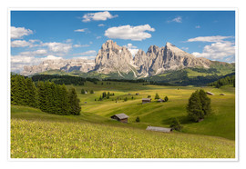 Premiumposter  Summer in the Dolomites - Michael Valjak