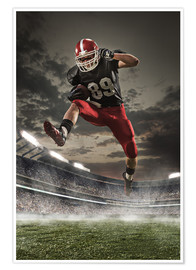 Premiumposter  football player in action
