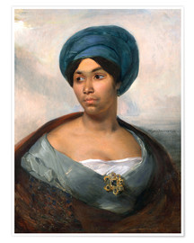 Premiumposter Woman in a Blue Turban