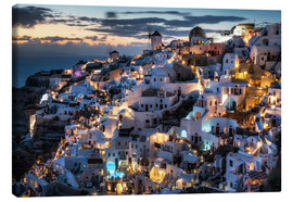 Canvastavla  Santorini, after sunset - Dennis Fischer