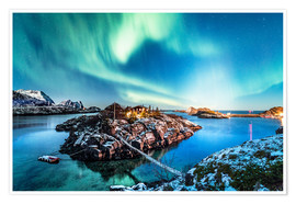Premiumposter  Northern Lights in Northern Norway (Senja Island) - Sascha Kilmer