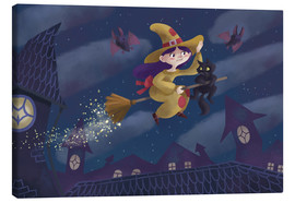 Canvastavla  Little witch - Leonora Camusso