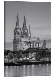 Canvastavla  Cologne Cathedral black-and-white - Michael Valjak