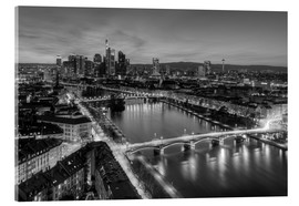 Akrylglastavla  Frankfurt skyline black-and-white - Michael Valjak