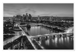 Premiumposter  Frankfurt skyline black-and-white - Michael Valjak