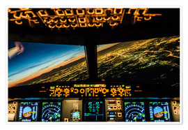 Premiumposter Airbus A320 Landing in Moscow, Russia