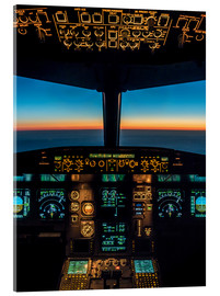 Akrylglastavla  A320 cockpit at twilight - Ulrich Beinert