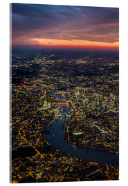 Akrylglastavla  Birds-eye view of London - Ulrich Beinert