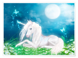 Poster Fairy magic unicorn