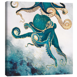 Canvastavla  Octopus, underwater dream V - SpaceFrog Designs