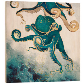 Trätavla  Octopus, underwater dream V - SpaceFrog Designs