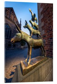 Akrylglastavla  The statue of the Bremen Town Musicians - Jan Christopher Becke