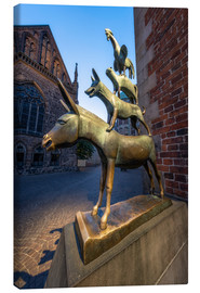 Canvastavla  The statue of the Bremen Town Musicians - Jan Christopher Becke