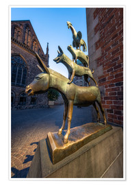 Premiumposter  The statue of the Bremen Town Musicians - Jan Christopher Becke