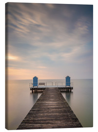 Canvastavla  Jetty on the Baltic Sea (1) - Heiko Mundel