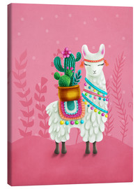 Canvastavla  Illustration of a cute llama - Elena Schweitzer